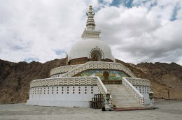 Shanti Stupa temple located in the high altitudes of Leh Ladakh.