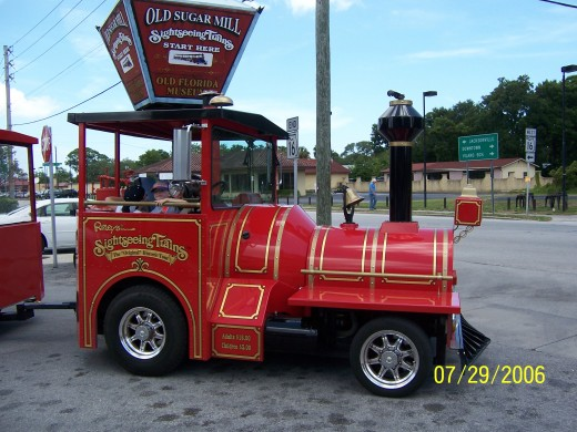 The Little Red Trolley - Tours start at the Old Sugar Mill