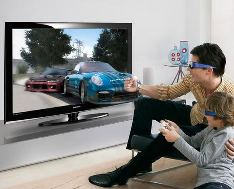 enjoy the amazing experience of 3D gaming with 3D plasma TV