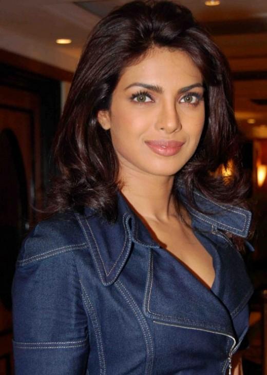 Priyanka Chopra in a Jeans Casual Coat