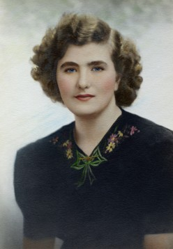 """Restored photo of """"The Beautiful Lady - With No Name"""""""