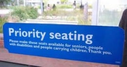 Its called priority seating for a reason