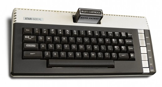 Note the cartridge slot on the Atari 600XL