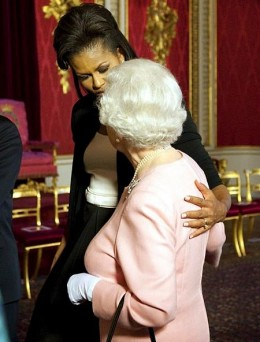 2009 and Michelle and The Queen cosy up. Protocol goes out of the window for once.