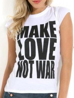 War is masculine, and love is feminine.  This is why we need loving and caring women ruling our world.
