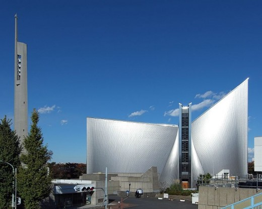 Metropolitan Cathedral of the Blessed Virgin Mary in Tokyo.