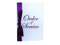 How to Word a Wedding Order of Service