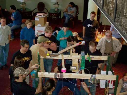 Rube Goldberg competition and higher education