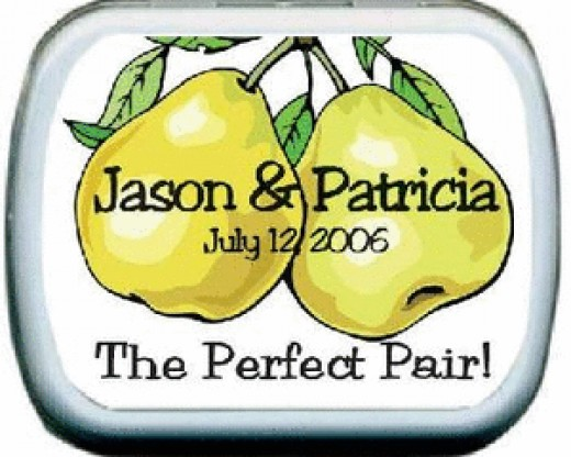 The Perfect Pair Personalized Mint Favors