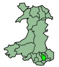 Map location of Caerphilly
