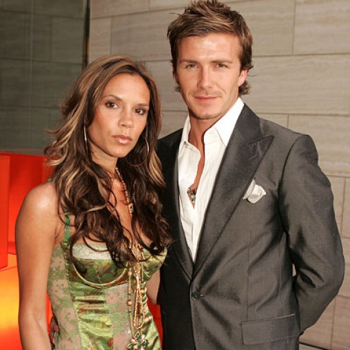 Romantic hair. Victoria and David Beckham