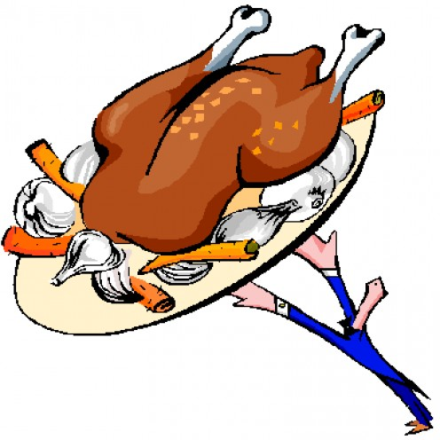 Turkeys smell much better cooked than they do in a pen!  Whew!!!