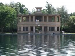 The pavillion at the model boating lake, Eaton Park