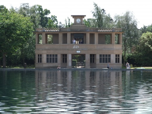 The pavillion at the model boating lake, Eaton Park