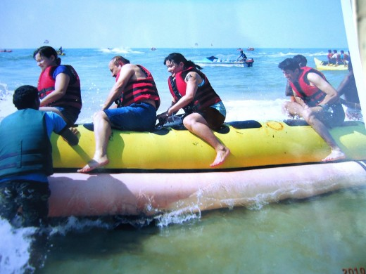 most thrilling water sport-Banana boat ride