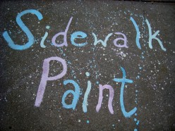 How To Make Sidewalk Chalk Paint With Cornstarch