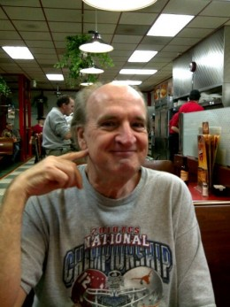 This is me again, Kenneth Avery, with my same photo. I don't own a digital camera to make new ones. The manager of my local Huddle House, Hamilton, Alabama, Delores Millican, made this for me at Christmas 2010.