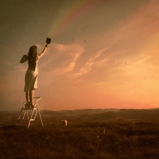 probably one of my favorites as well here a women paints a rainbow in the sky. Wish I could do that in real life:)