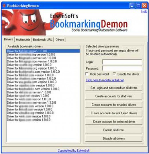 Bookmarking Demon Program - Preview
