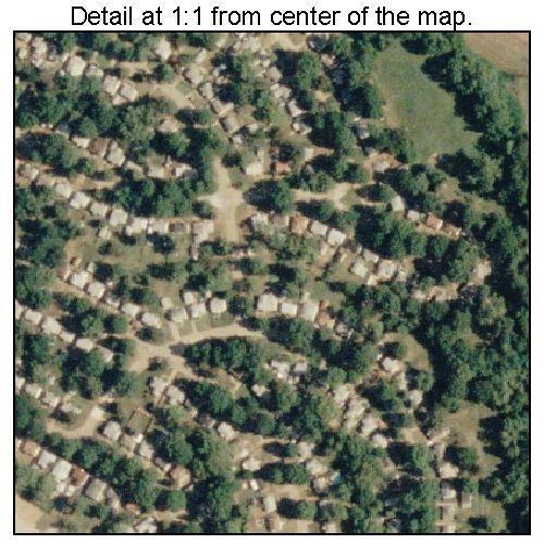 Village of Hanley HIlls, St. Louis, Missouri...partial aerial view.