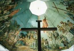 the original cross planted by Ferdinand Magellan