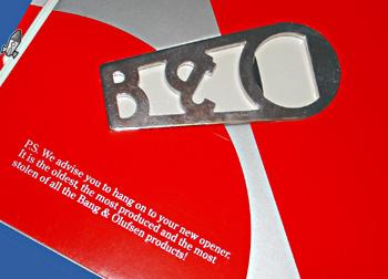 B&O bottle opener the most stolen!