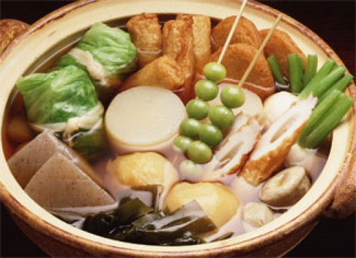 Nabe Ryori, or Hot Pot Dishes, in this photo Odon.