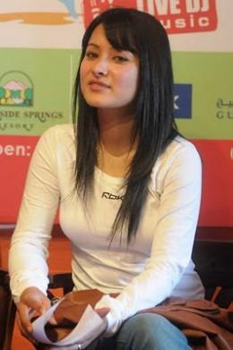 Namrata at a press conference