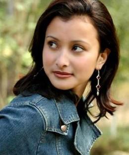 Namrata's close up pic in a photo shoot