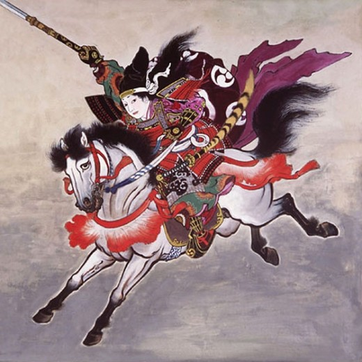 Tomoe Goizen on a horse.
