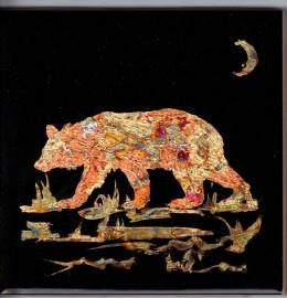 Bear Under Crescent Moon