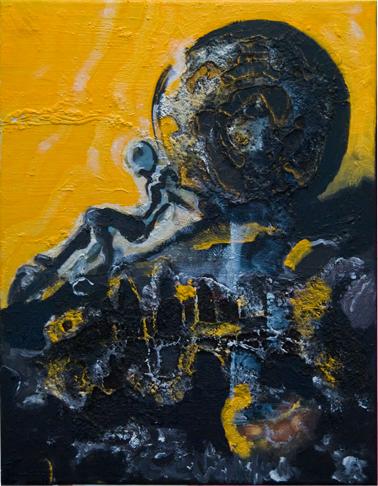 "Painting ""When"" by Victor Mavedzenge"