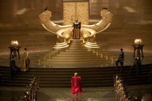 Inside the palace at Asgard - this is all rather Shakespearean, honest.