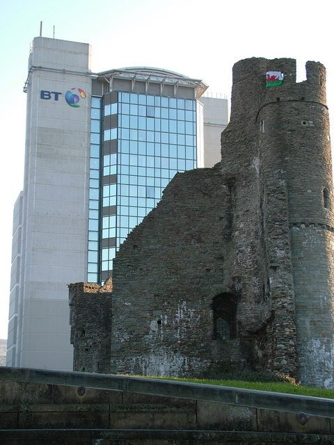 BT Tower and Swansea Castle
