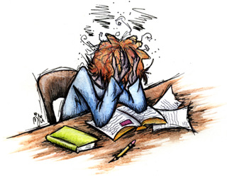 Can't say that I really get in this state; I usually just close my notebook in disgust, and then read a book or turn on the telly, whichever is closer to hand.