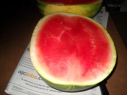 Half a watermelon