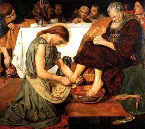 Jesus Washing Peter's Feet. Ford Madox Brown 1821-1893 Tate Gallery, London
