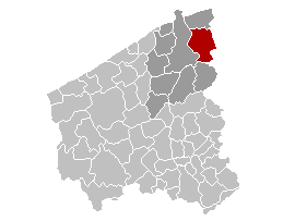 Map location of Damme