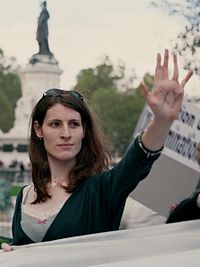 A Trans woman with the letters XY written on her palm- courtesy Wikipedia