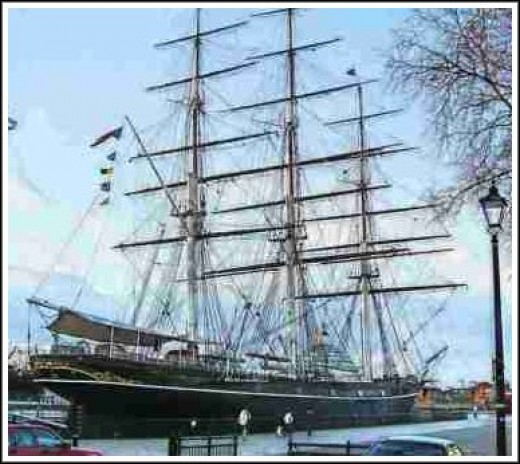 The over 138-year-old tea clipper Cutty Sark caught fire 21 May 2007. The fire swept through the entire hull of the ship, and caused substantial damage. Fortunately, the ship, docked just yards from the Thames.