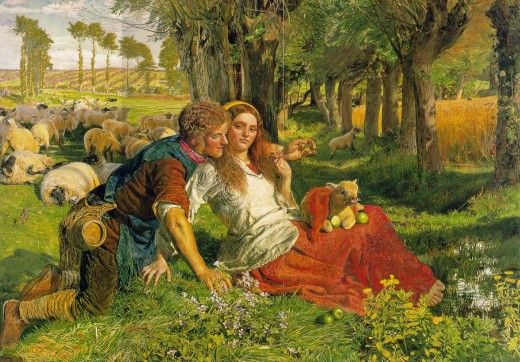Holman Hunt The Hireling Shepherd