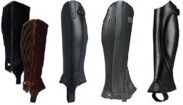 Pictured from Left to Right:  Dublin Easy Care, Ariat Covington, Grand Prix Full-Grain, Ariat Volant Vented