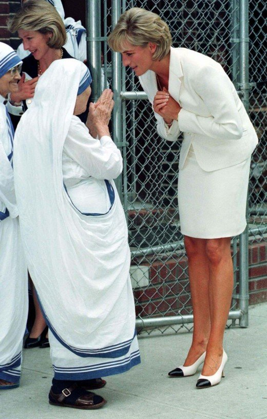 Lady Di and Mother Teresa, the role model of kindness and compassionate heart