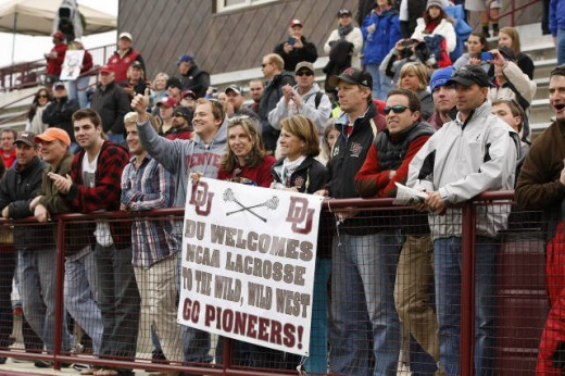 Denver University fans help the Pioneers make a statement to the Division I lacrosse world.