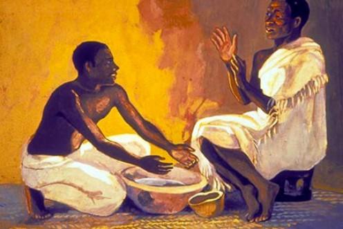 "Washing of the feet. The Unknown Illustrator of ""Vie de Jesus Mafa."""