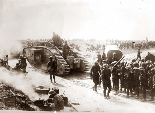 A stalemante for nearly four years.   It's estimated some 16 million people died -  and for what?   Tanks eventually made the breakthrough.