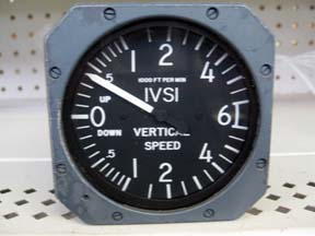 A vertical airspeed indicator