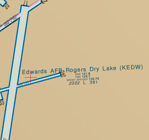 The Edwards AFB runway is at 2302ftt above sea level