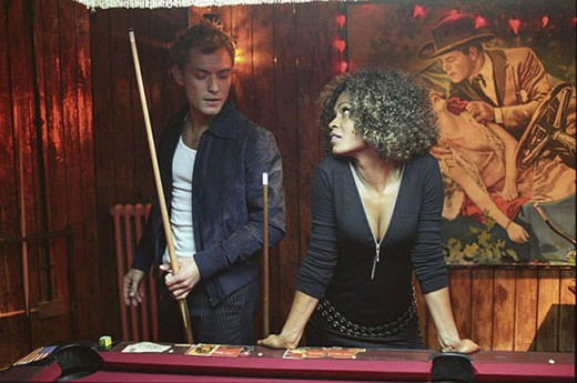 Alfie (Jude Law) and Lonette (Nia Long) end up having sex on this pool table.
