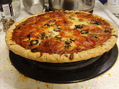 You can make one large Pizza Pie, or a number of smaller ones.